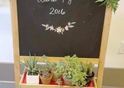 Wedding Hall Chalk Board