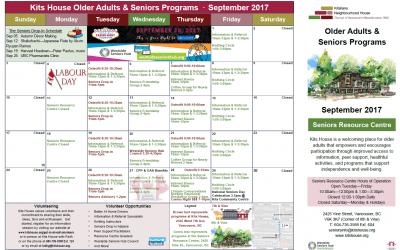 Older Adults & Seniors Program Calendar September 2017