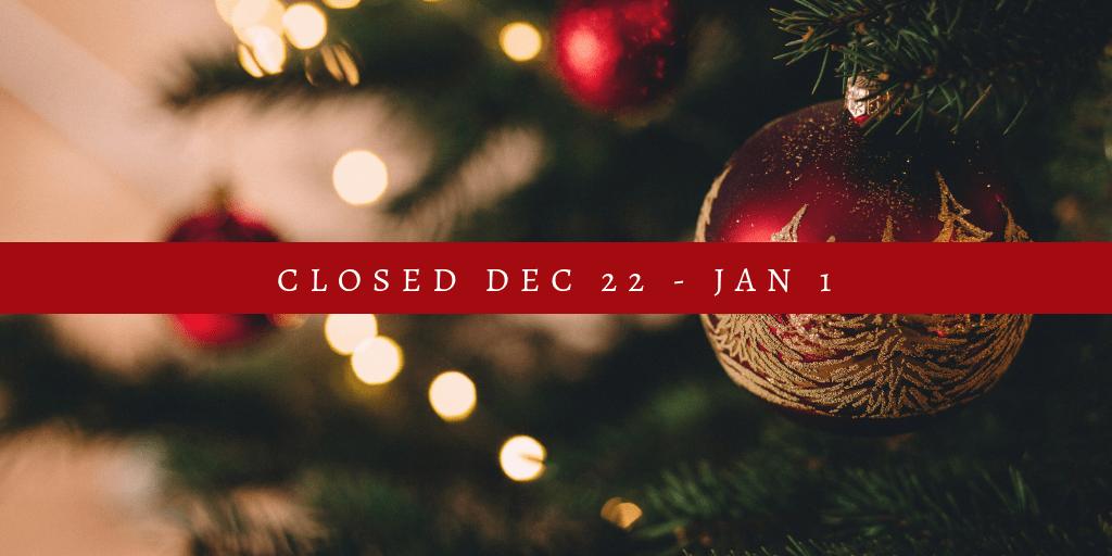 Kits House Holiday Closure