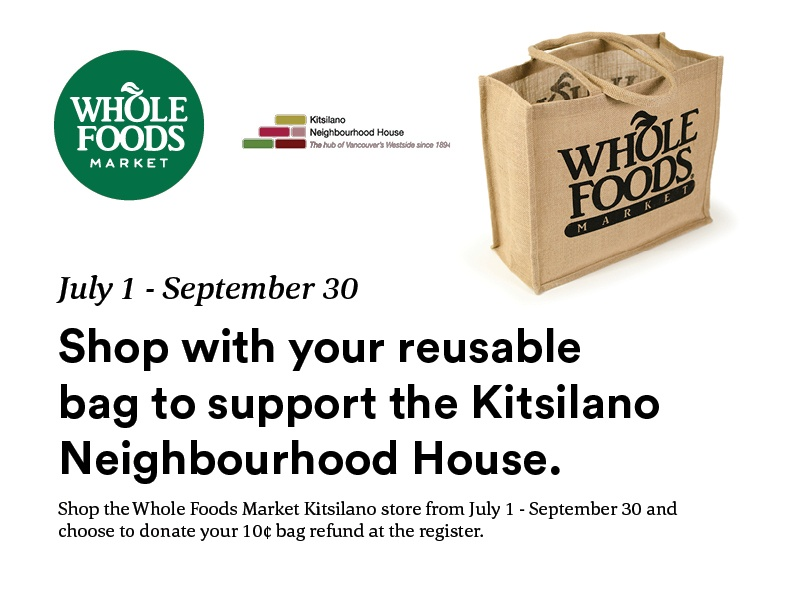Shop with Reusable Bags to Support Kits House