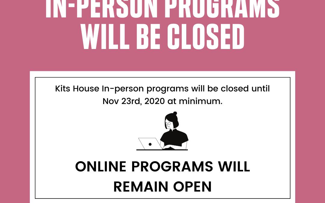 November 2020 Covid Update | 2 Week Closure
